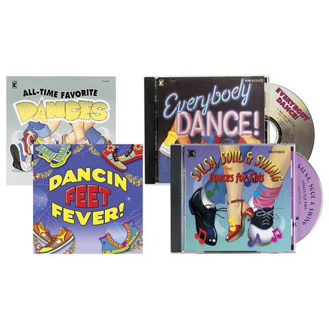 Kimbo Educational Let's Dance CD, Ages 3 and Up, Set of 4