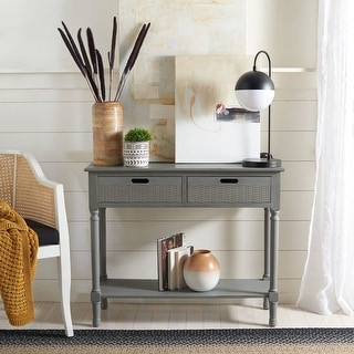 "Link to Safavieh Landers 2-drawer Console Table - 35.5"" W x 13"" L x 29.5"" H Similar Items in Living Room Furniture"
