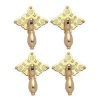 Bright Solid Brass Diamond Drop 3 1/8 inch Set of 4 Cabinet Pulls