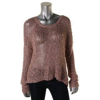 Jessica Simpson Womens Eder Knit Marled Pullover Sweater