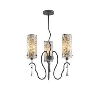 Woodbridge Lighting 14213-M10WHT 3 Light 1 Tier Chandelier with White Glass Shades from the Haley Collection