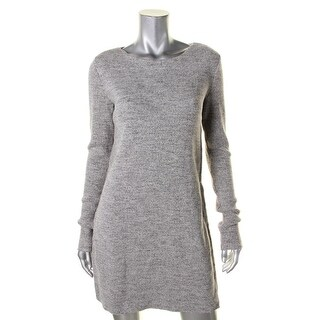 DKNY Womens Tunic Sweater Side Slit Long Sleeves - s