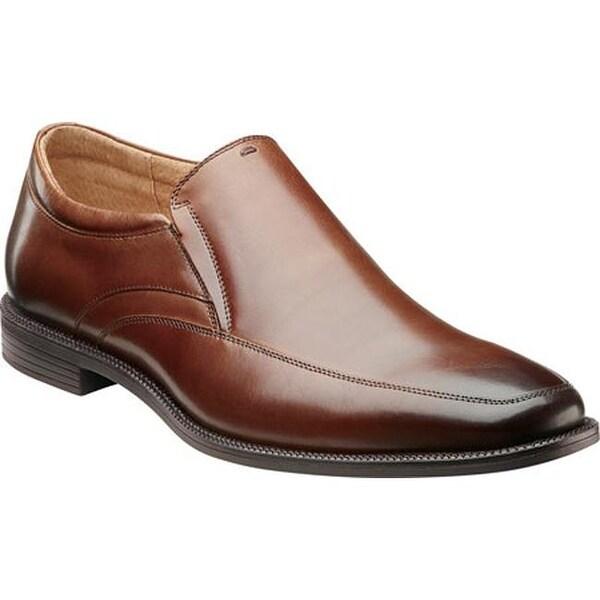 Florsheim Men's Forum Moc Toe Slip On Cognac Leather
