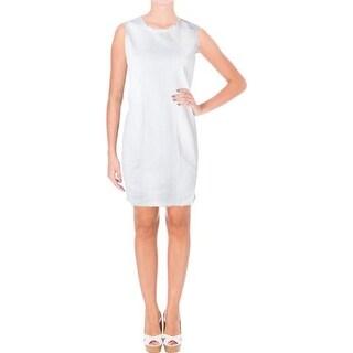 Lauren Ralph Lauren Womens Petites Casual Dress Sleeveless Denim