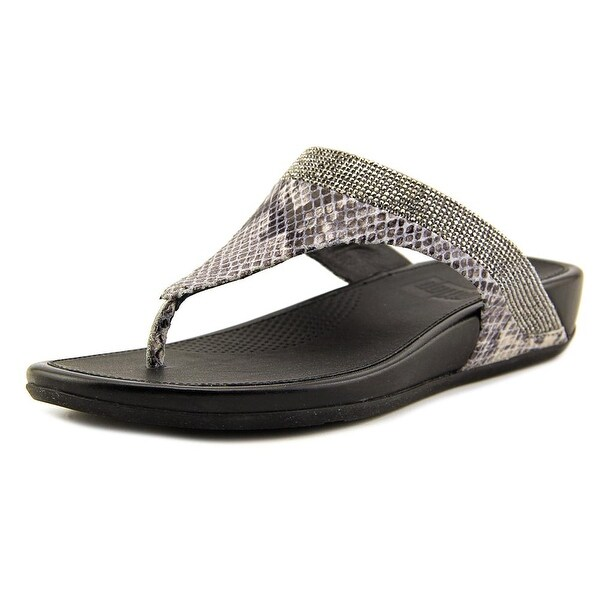 2891e7663f47 Shop FitFlop Banda Women Open Toe Leather Silver Thong Sandal - Free ...