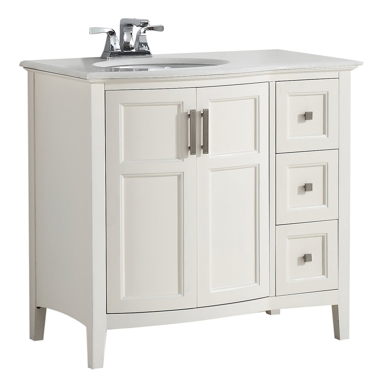 WYNDENHALL Salem 36 inch Contemporary Bath Vanity with ...