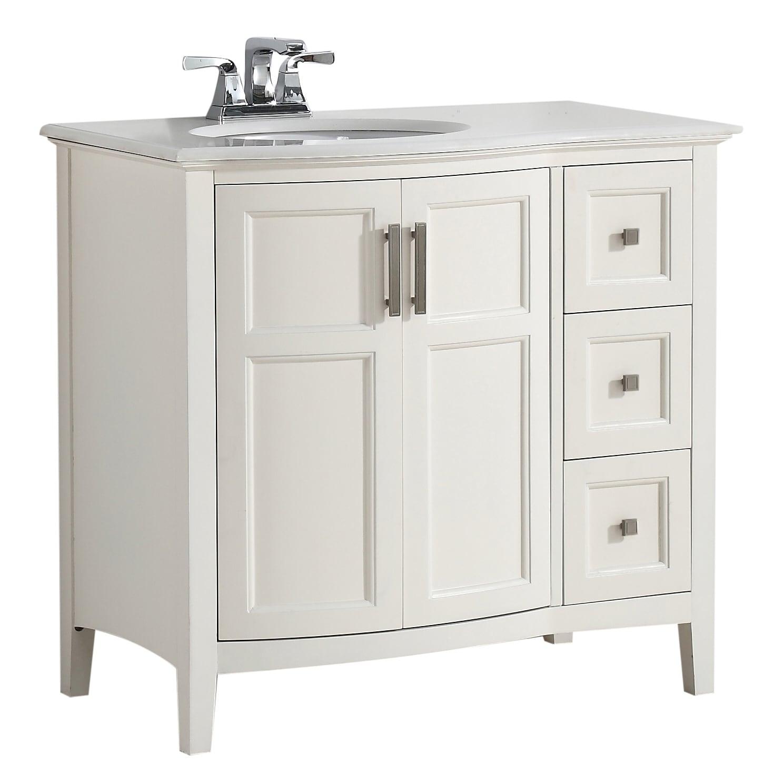 WYNDENHALL Salem 36 inch Contemporary Bath Vanity with ...
