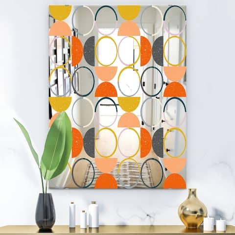 Designart 'Circular Rhythm 2' Mid-Century Mirror - Modern Accent Mirror