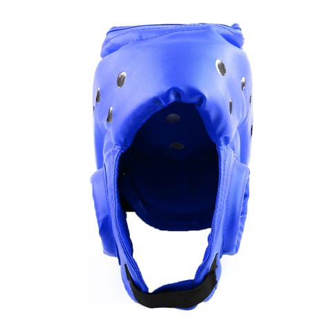 Kickboxing Sparring Head Brace Punching Protector Boxing Gear Helmet Blue Size L