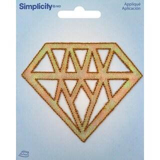 Wrights Iron-On Applique-Gold Diamond