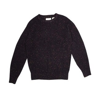 Weatherproof Men's Crewneck Confetti Ribbed Sweater - Deep Burgundy - S