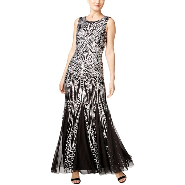 Shop Calvin Klein Womens Semi Formal Dress Sequined Open Back Free