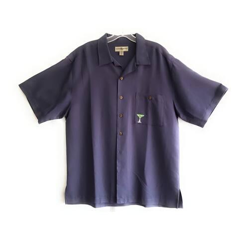 Hook Tackle Limited Edition Short Sleeve Fishing Shirt, Indigo, Large