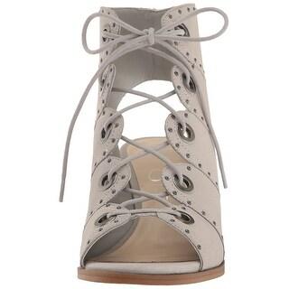 Jessica Simpson Womens Ryanna Leather Open Toe Casual Mule Sandals