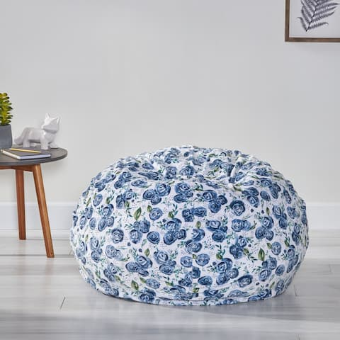 Mynders Modern 3 Foot Fabric Bean Bag by Christopher Knight Home