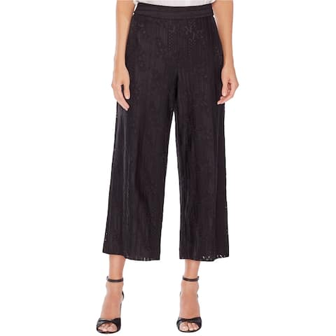Vince Camuto Womens Lace Cropped Casual Wide Leg Pants