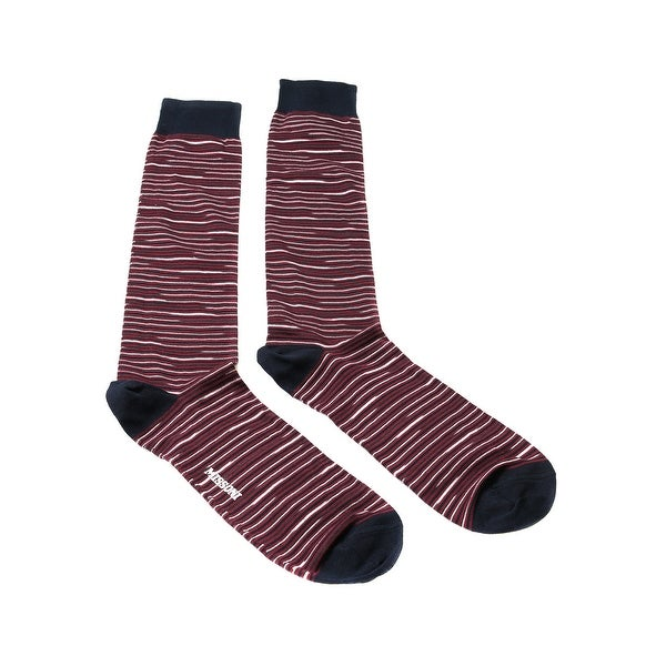 Missoni GM00CMU5231 0003 Maroon/Navy Knee Length Socks - L