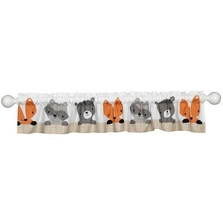Bedtime Originals Multicolor Acorn Window Valance