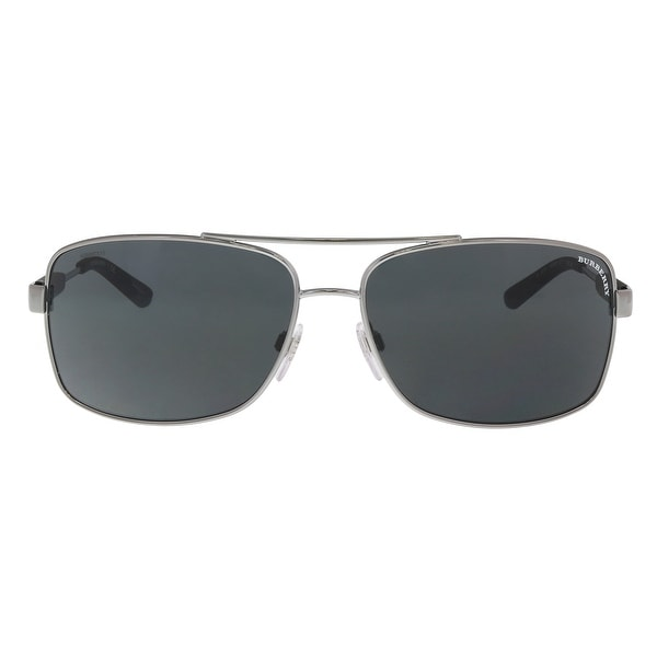 6235b1b746f4 Burberry BE3074 100387 Gunmetal Aviator Sunglasses - 63-15-135. Click to  Zoom