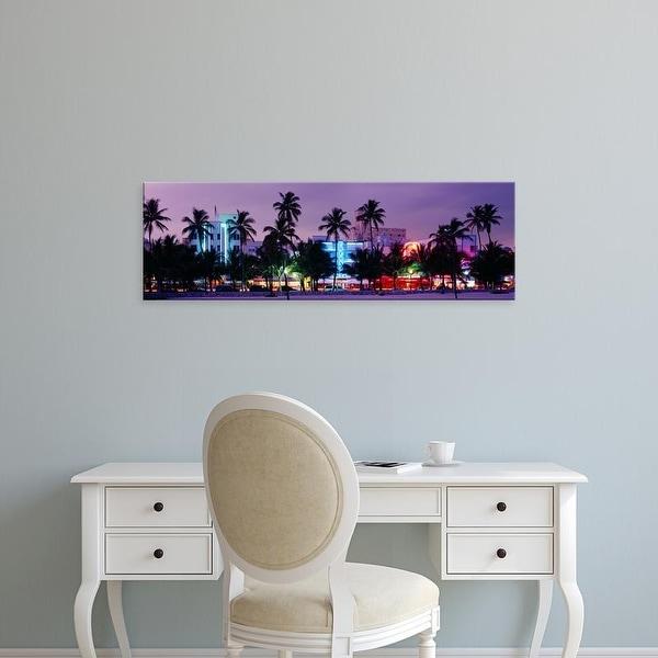 Easy Art Prints Panoramic Images's 'South Beach, Miami Beach, Florida, USA,' Premium Canvas Art