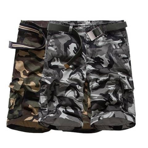 Men's Fashion Jeans Pants Five Cotton Camouflage Shorts