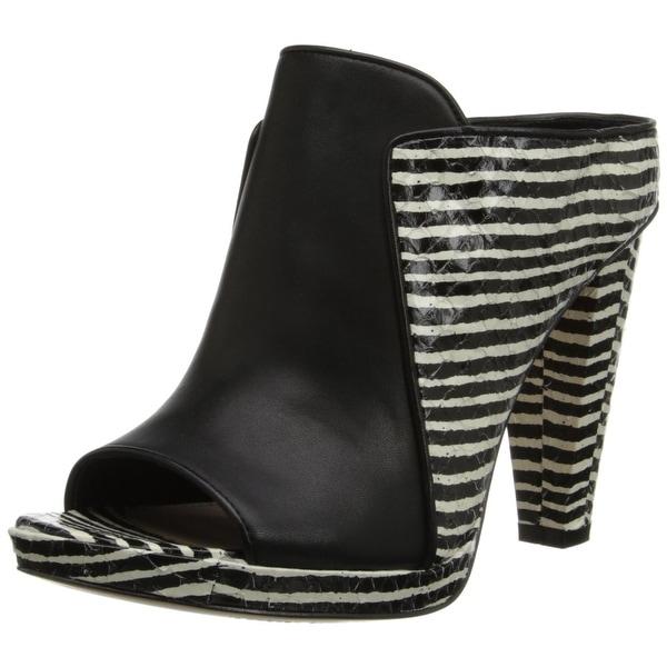10 Crosby Derek Lam NEW Black Shoes Size 6M Mules Leather Heels
