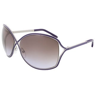 Tom Ford FT0179/S 81Z Rickie Violet/Silver Oval Sunglasses