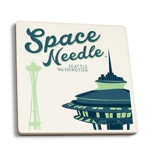 Seattle Washington - The Space Needle - LP Artwork (Set of 4 Ceramic Coasters)