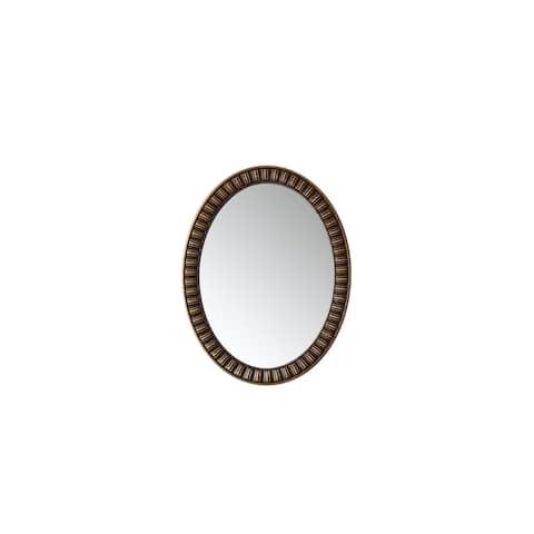 "Palermo 30"" Oval Bathroom/Vanity Metallic Bronze framed Wall Mirror"