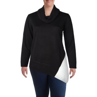 Calvin Klein Womens Plus Sweater Knit Long Sleeves