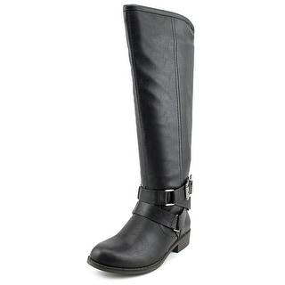 Madden Girl Corporel Women  Round Toe Synthetic Black Knee High Boot