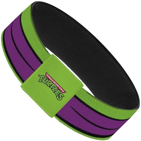 Classic Tmnt Donatello Eyes Close Up Green Purple Elastic Bracelet