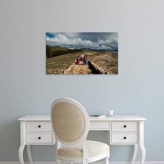 Easy Art Prints Panoramic Image 'Bolivian, Inca Trail, Machu Picchu, Isla Del Sol, Lake Titicaca, Bolivia' Canvas Art