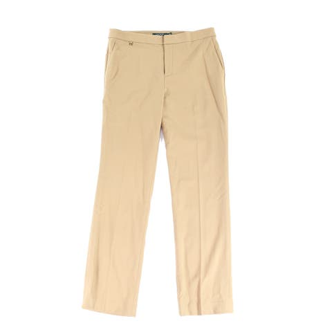 Lauren By Ralph Lauren Women's Dress Pants Camel Beige Size 6X30 Wool