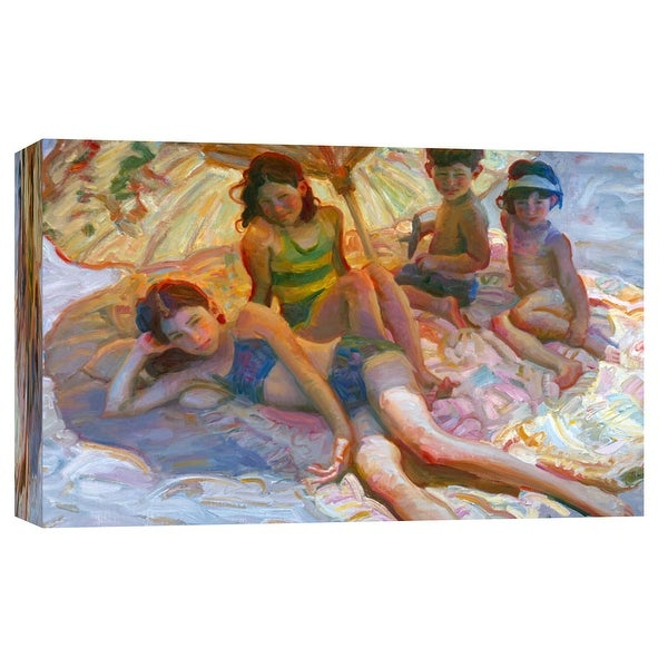 """PTM Images 9-101719 PTM Canvas Collection 8"""" x 10"""" - """"Chinese Umbrella"""" Giclee Children Art Print on Canvas"""