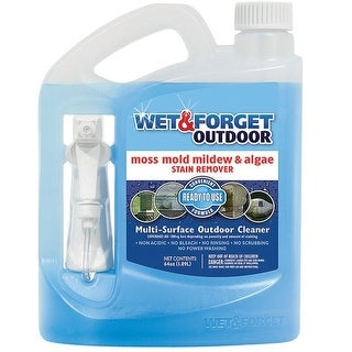 Wet & Forget 804064 Mold and Mildew Stain Remover, 64 Oz