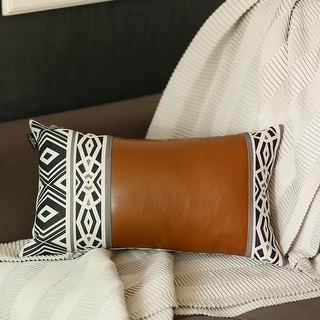 Link to The Curated Nomad Baywood Decorative 12x20 Lumbar Pillow Cover Similar Items in Decorative Accessories