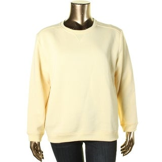 Karen Scott Womens Crew Neck Fleece Sweatshirt - XS