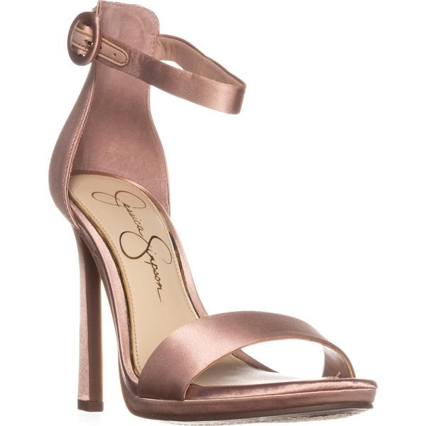 Jessica Simpson Plemy Ankle-Strap Heel Sandals, Nude Blush
