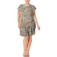 Juicy Couture Black Label Womens Casual Dress Leopard Print Mini - XL