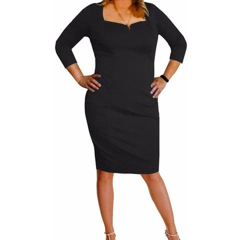 Funfash Plus Size Clothing Women Black LBD Cocktail Dress Made in USA