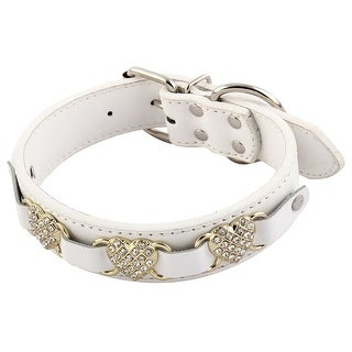 Link to Pet Heart Shaped Artificial Rhinestone Buckle Dog Neck Collar Similar Items in Dog Collars, Harnesses & Leashes