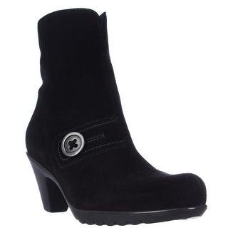 La Canadienne Dorthea Button Winter Ankle Boots, Black