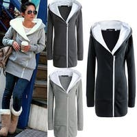 Women Fashion Hoodie Jacket Warm Coat Zip Sweatershirt Jumper Casual Outwear