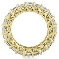 14K Yellow Gold 4.50 cttw. Round Diamond Eternity Ring HI,SI1-2 - Thumbnail 1