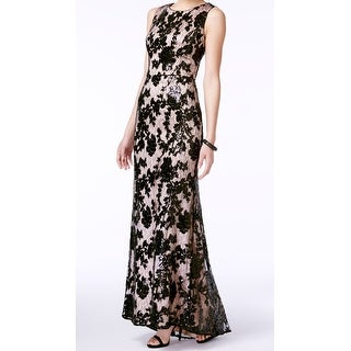 Vince Camuto NEW Black Womens Size 12 Sequined Floral Lace Ball Gown