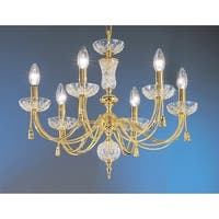 """Classic Lighting 5486 19"""" Traditional Chandelier from the Weatherford Rope Collection"""