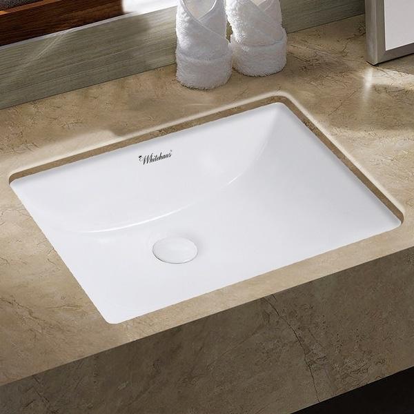 """Whitehaus WHU71006 Isabella Plus 20-3/4"""" Vitreous China Undermount Bathroom Sink - White"""