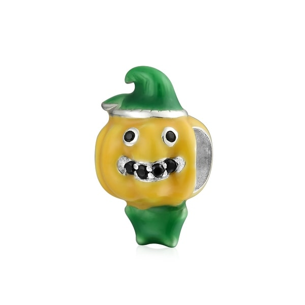 Squash Pumpkin Vegetable Food Lover Charm Bead 925 Sterling Silver. Opens flyout.