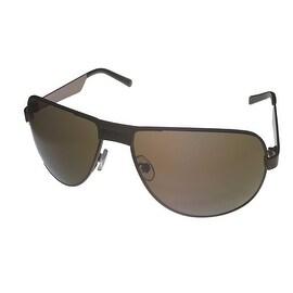Umbro Sunglass Mens Black, Solid Smoke Lens Metal Sport Aviator US23 Black